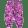 poá floral roxo